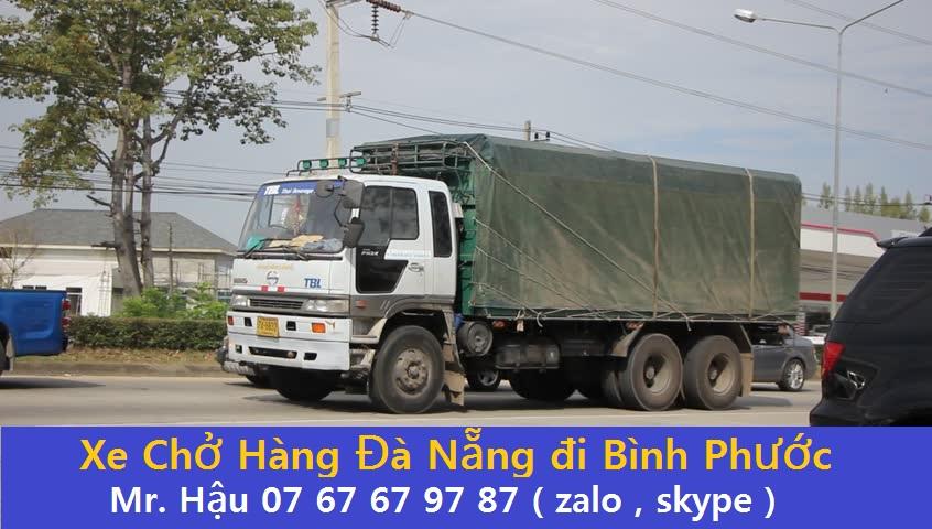 Xe Chuyển Hàng Đà Nẵng đi Bình Phước