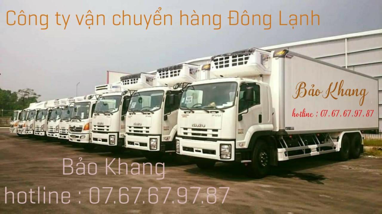 Xe chở hàng đông lạnh tại Vũng Tàu