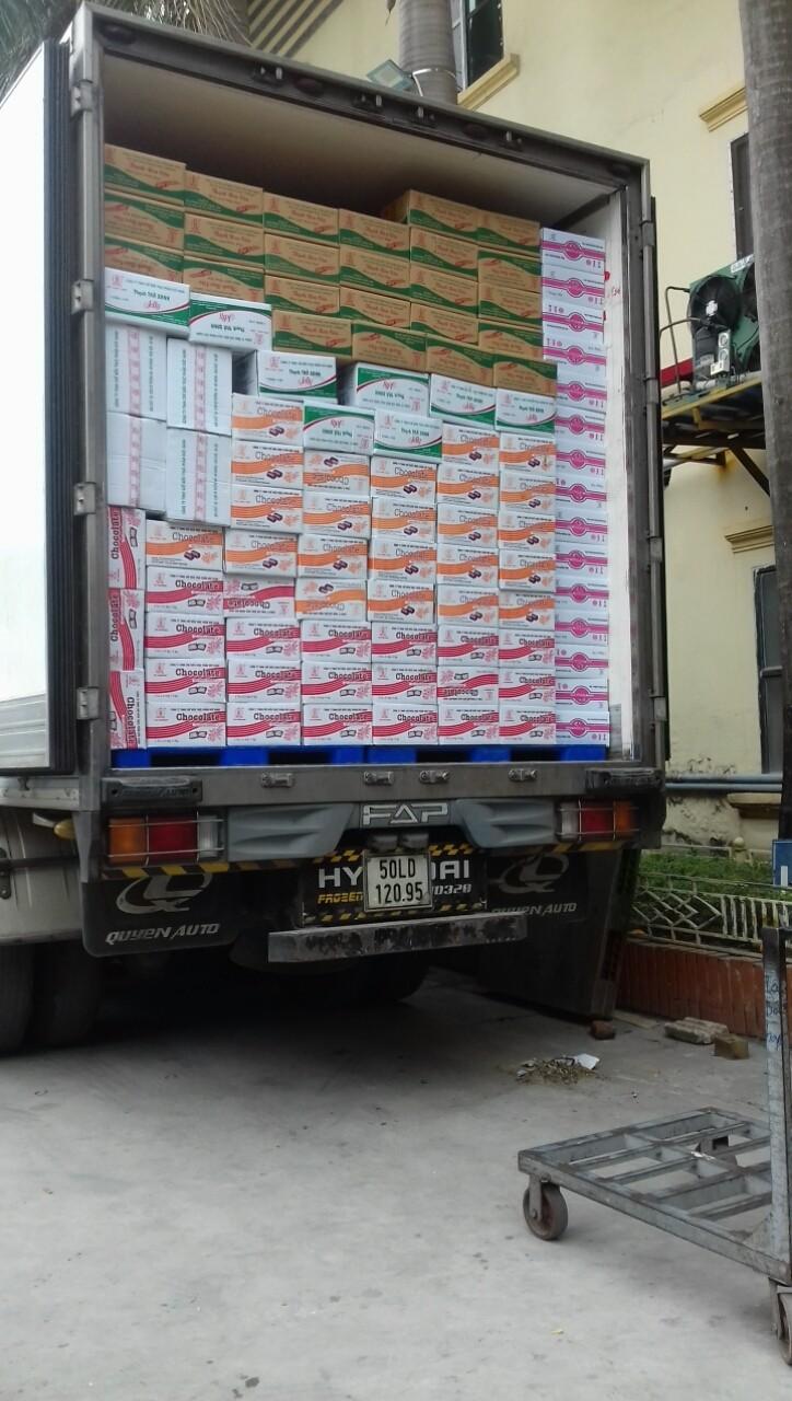 Xe chở hàng đông lạnh tại Ninh Thuận