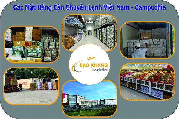 Chuyển hàng đông lạnh đi Campuchia