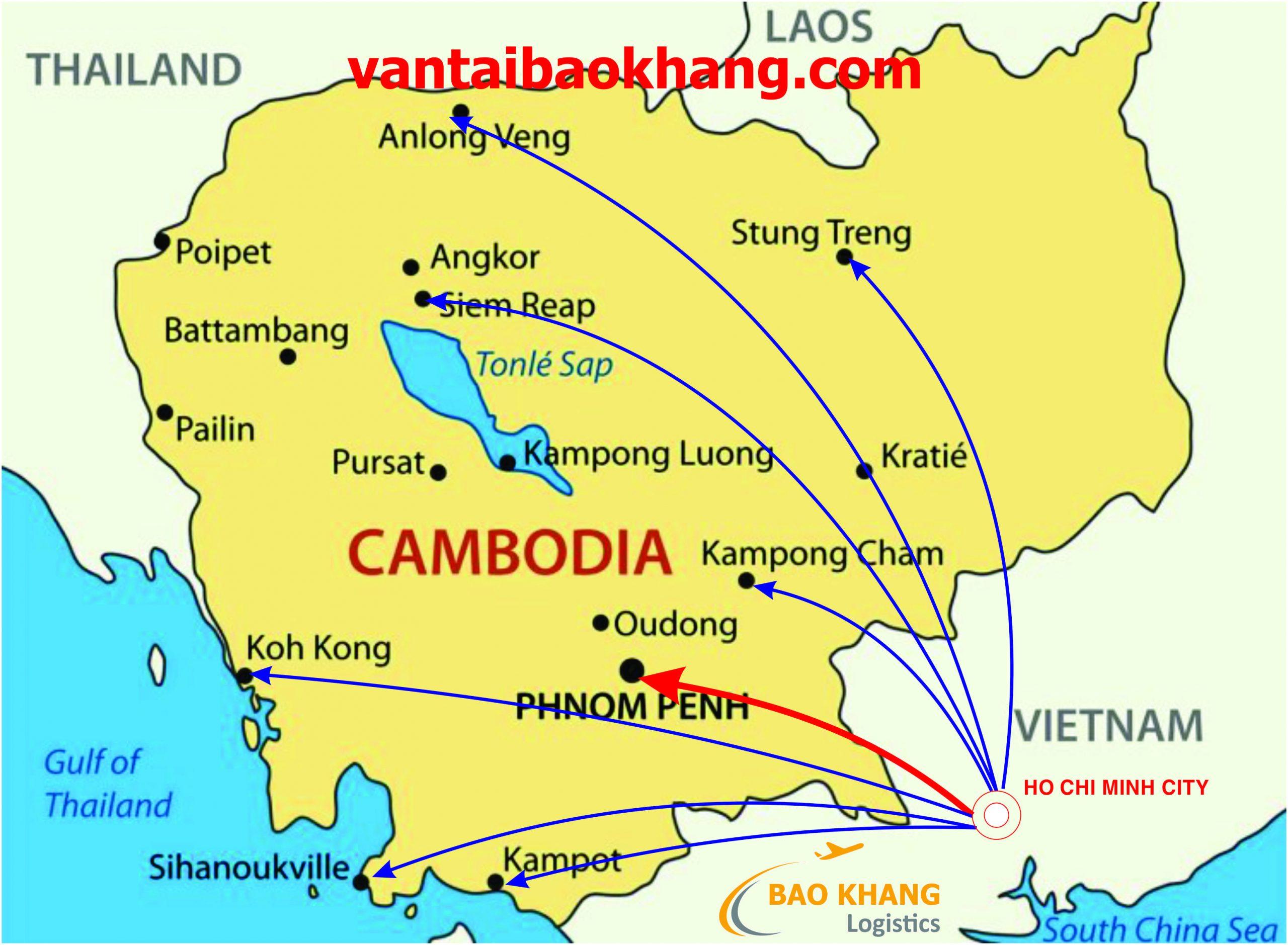 Chuyển hàng Sài Gòn đi Phnom Penh